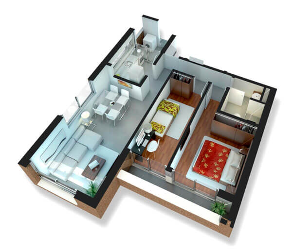 Citadino Prado Plano 2 Dormitorios