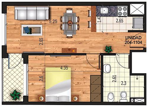 marina 21 1 dormitorio