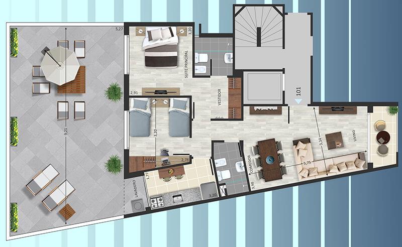 marina marti 2 dormitorios patio