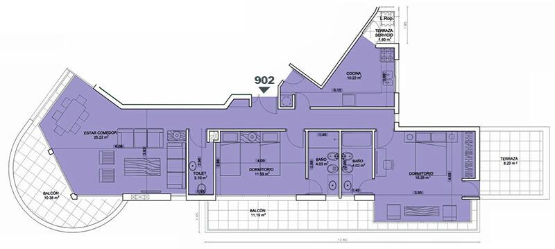 Birdie Golf 2 dormitorios 902