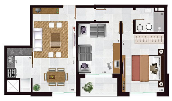 torres del rey bahia 2 dormitorios 210 a 410