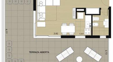 Aquum monoambiente penthouse