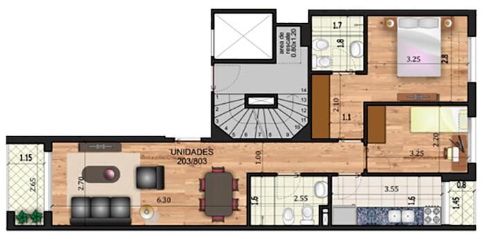 Marina 26 II 2 dormitorios