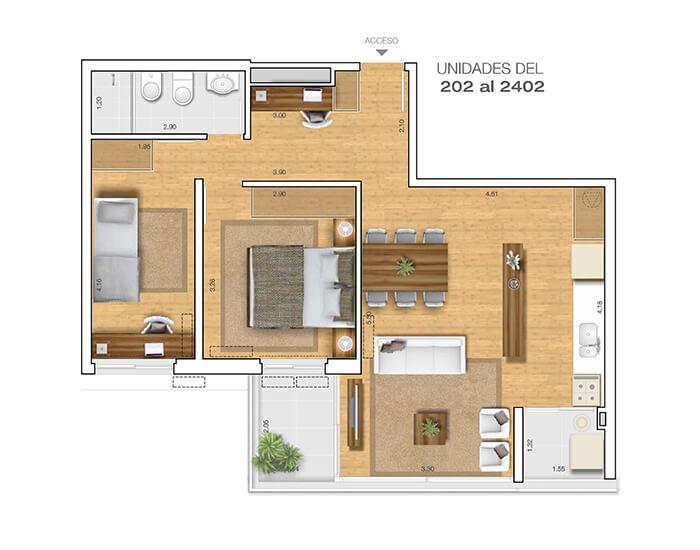 Torre 25 2 dormitorios 02