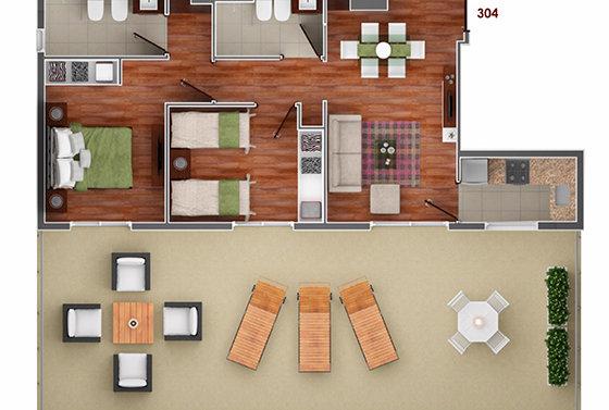 Vista Carretas 2 dormitorios 304