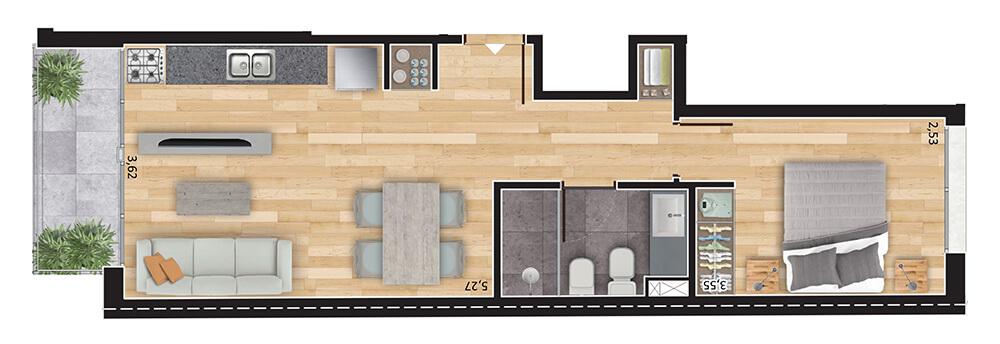 Espacio Soho 1 dormitorio 02