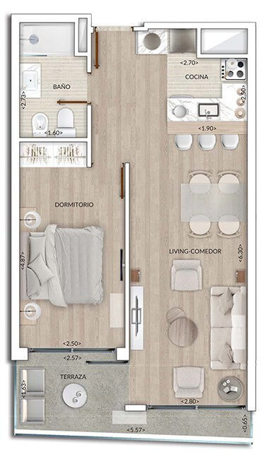 Plano Air Tower 1 DORMITORIO 202-902