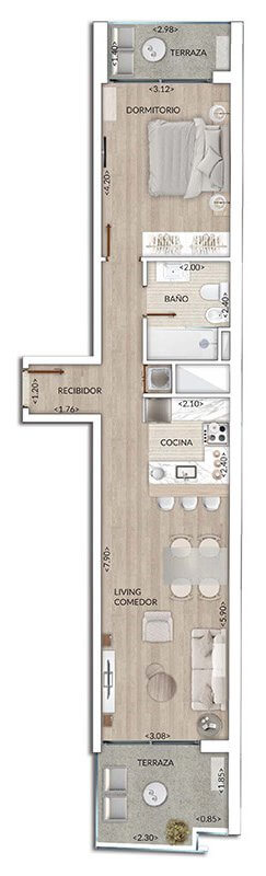 Plano Air Tower 1 DORMITORIO 205-905