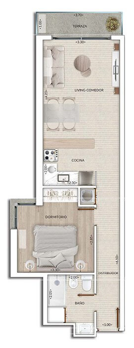 Plano Air Tower 1 DORMITORIO 208-908