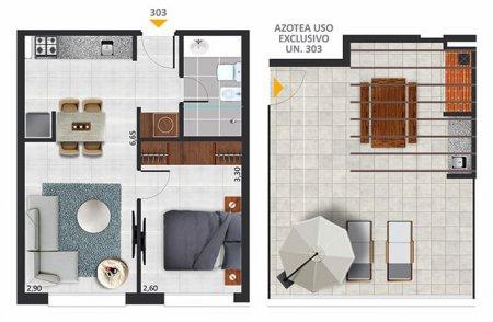 Horizonte Sol - 1 dormitorio Unidad 303
