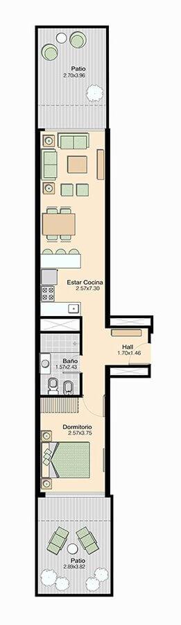 L+ 1 dormitorio 103