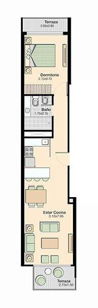L+ 1 Dormitorio 201