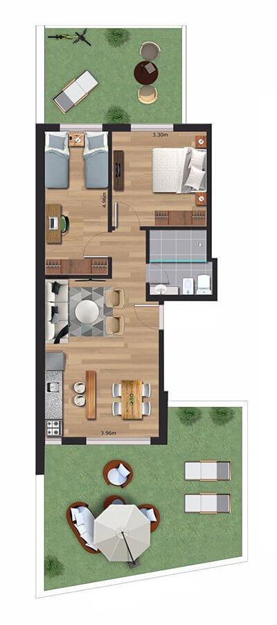 Cenit 2 dormitorios 001