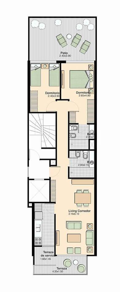 L+ 2 Dormitorios 102