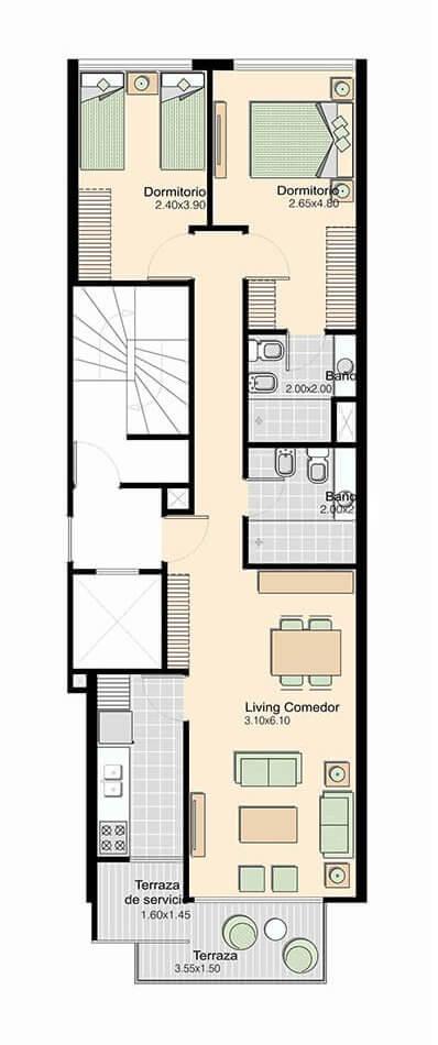 L+ 2 Dormitorios 202
