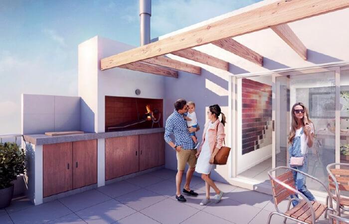 Marina 26 III Barbacoa monoambiente penthouse
