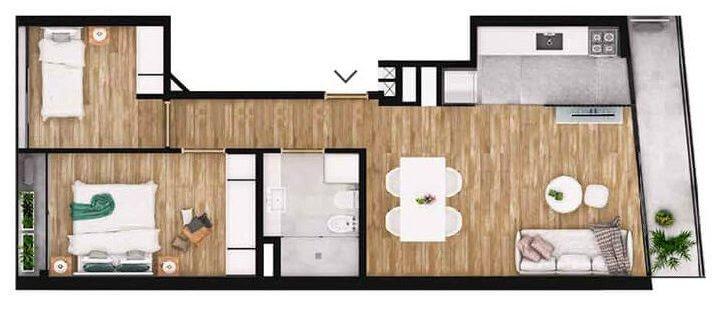 Lagom Herrera 2 dormitorios