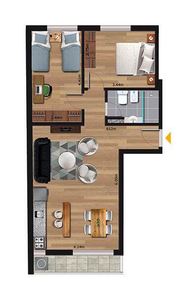 Cenit 2 dormitorios 106