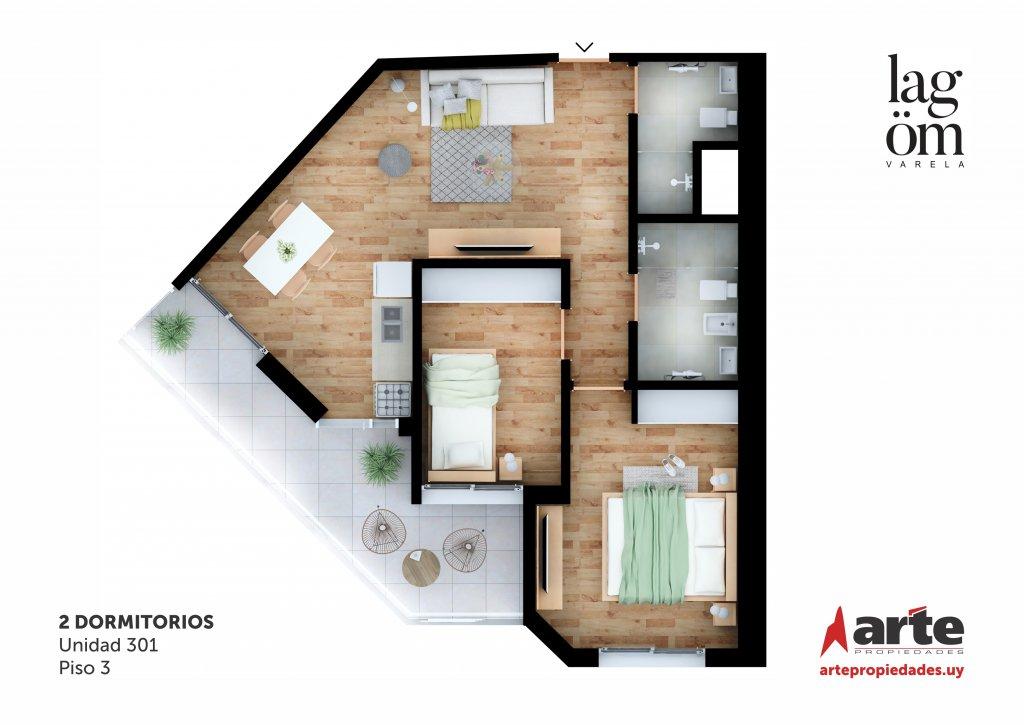 Lagom Varela 2 Dormitorios 301