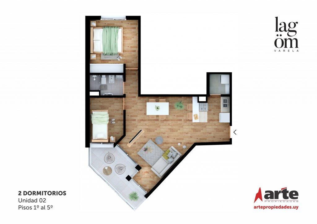 Lagom Varela 2 Dormitorios 02