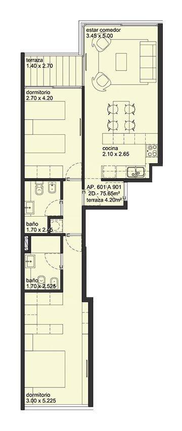 City Blanes 2 dormitorios 01