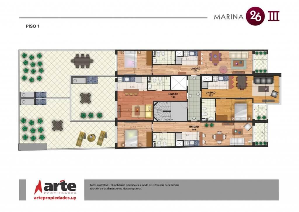 MARINA 26 III - PISO 1