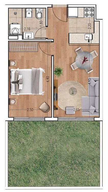 Ventura 810 plano 1 dormitorio unidad 107