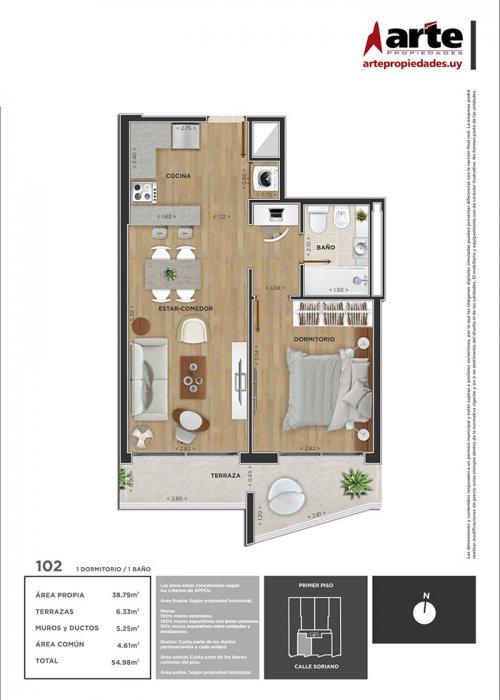 Domini Soriano 1 dormitorio 102