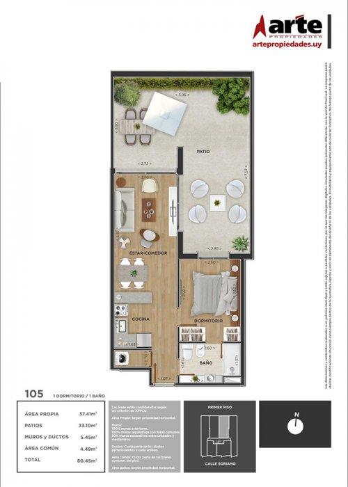 Domini Soriano 1 dormitorio 105