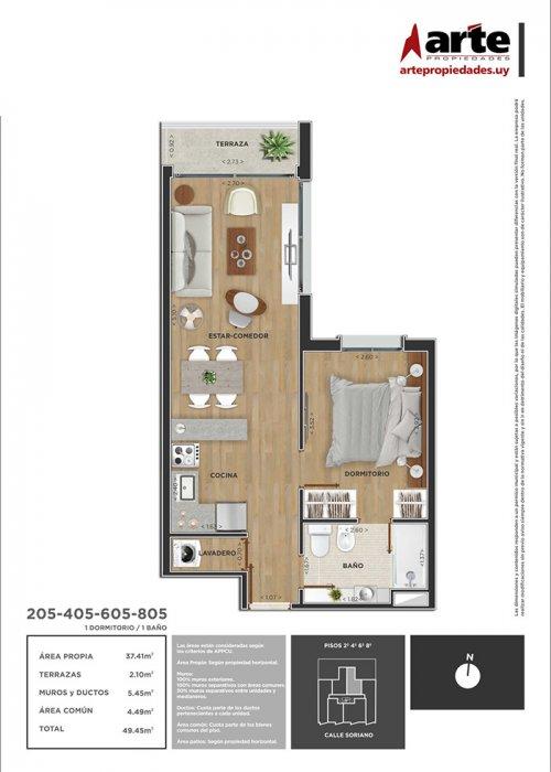Domini Soriano 1 dormitorio 205