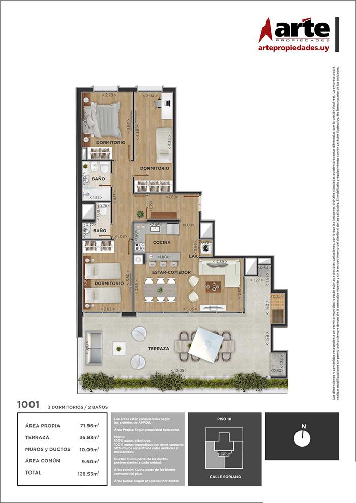 Domini Soriano Penthouse 3 dormitorios 1001