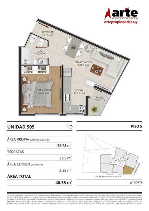 Eminent 1 dormitorio 505