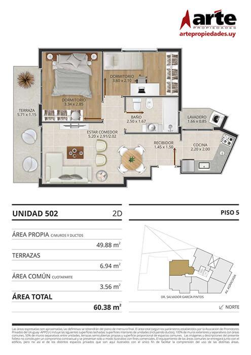 Eminent 2 dormitorios 502