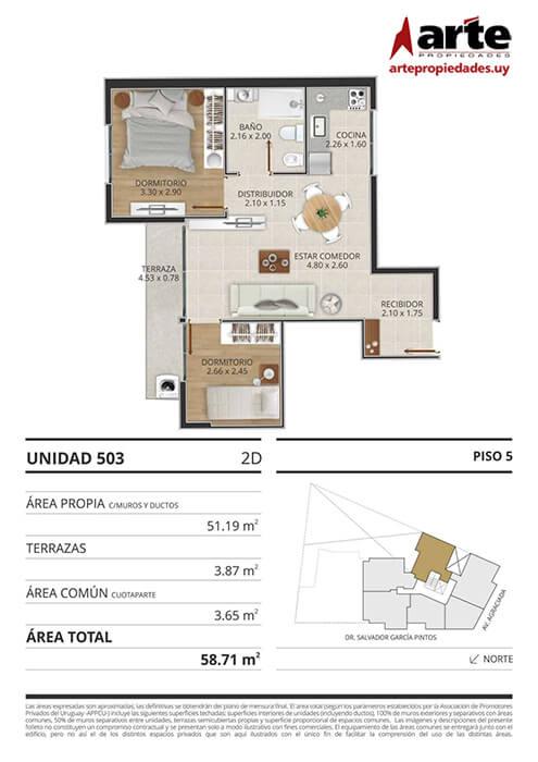 Eminent 2 dormitorios 503