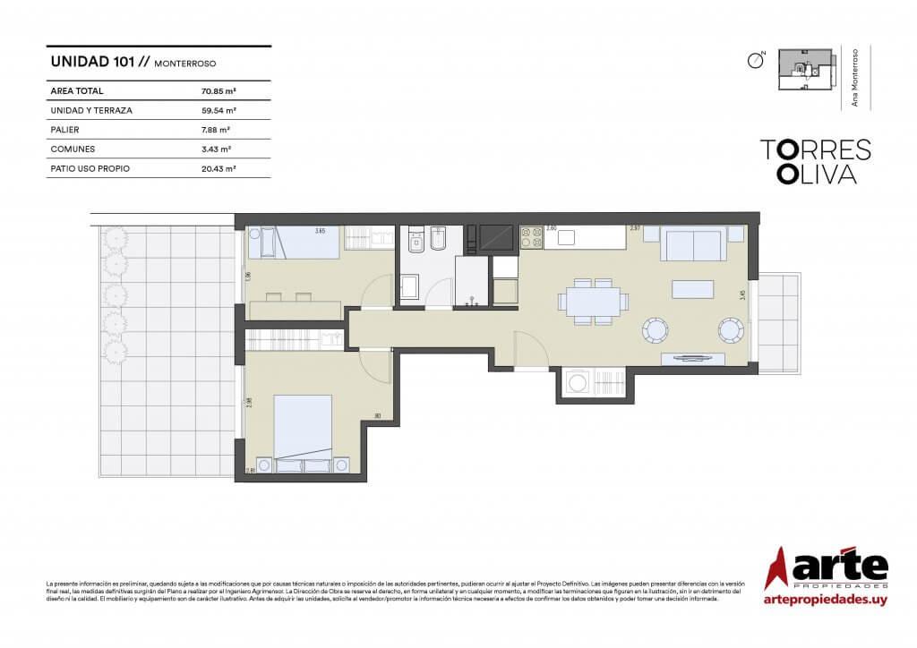 Torres Oliva 2 dormitorios 101