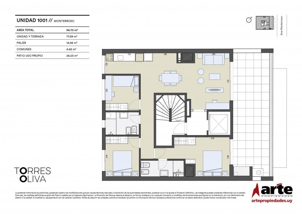 Torres Oliva 3 dormitorios 1001