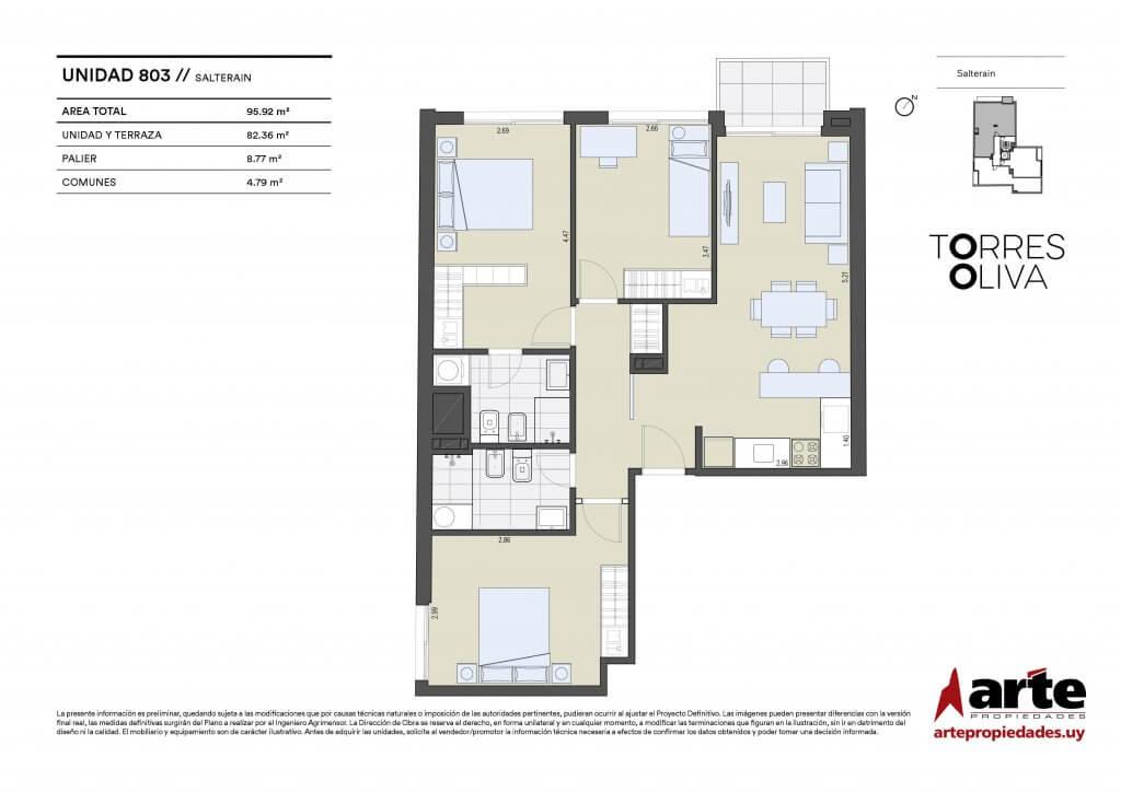 Torres Oliva 3 dormitorios 803
