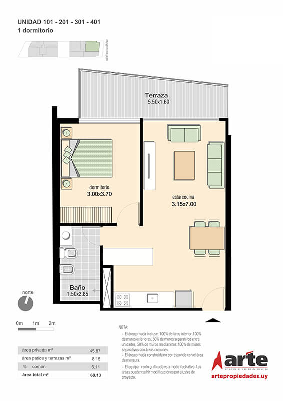 M+ 1 dormitorio 01