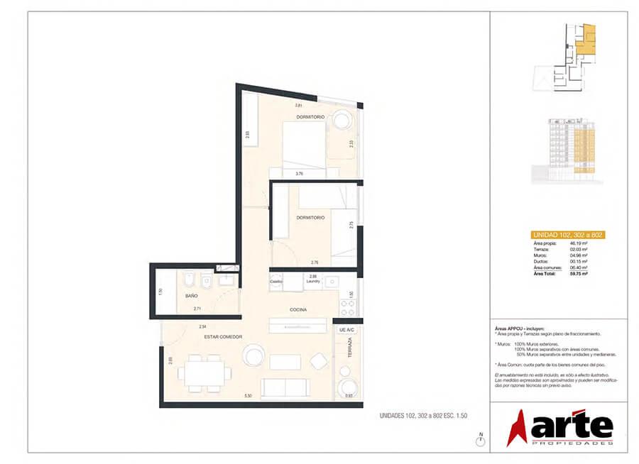 MasMio Design 2 dormitorios 02