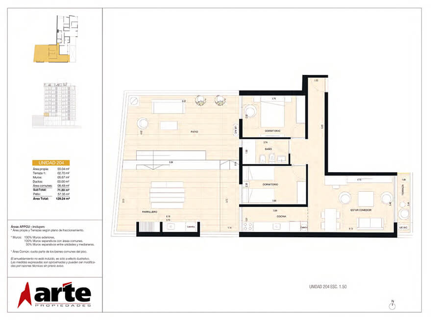 MasMio Design 2 dormitorios 204