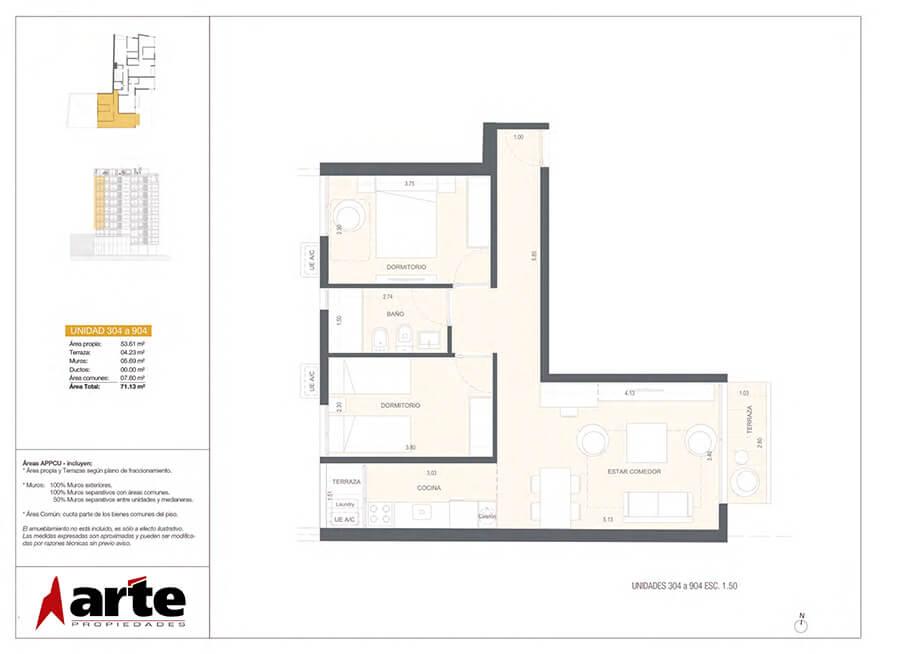 MasMio Design 2 dormitorios 304-904