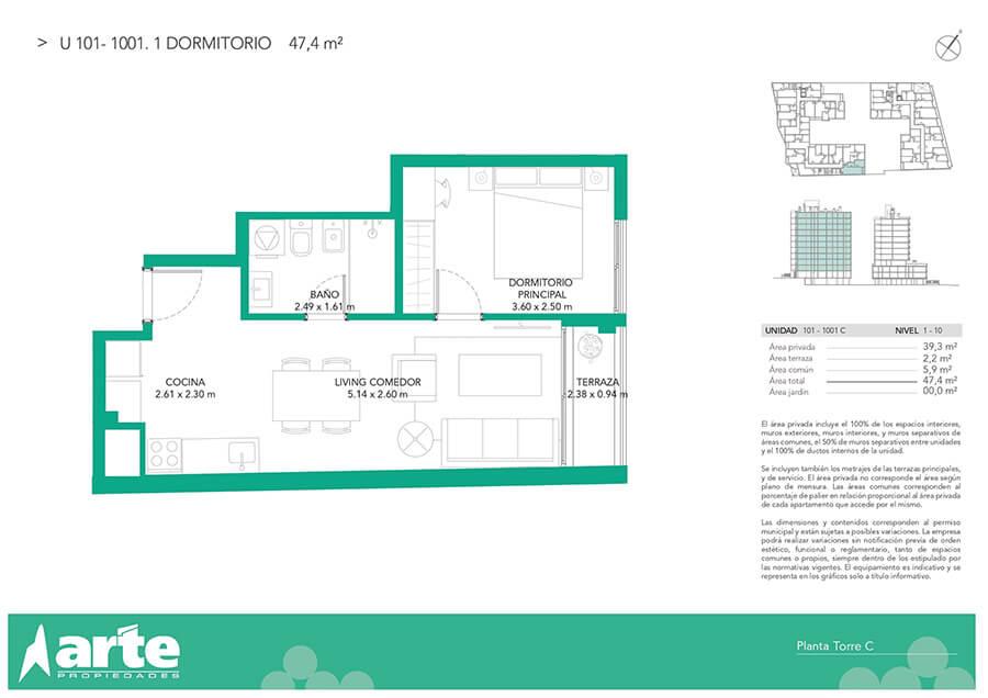 Ventura Boulevard 1 dormitorio 101-1001